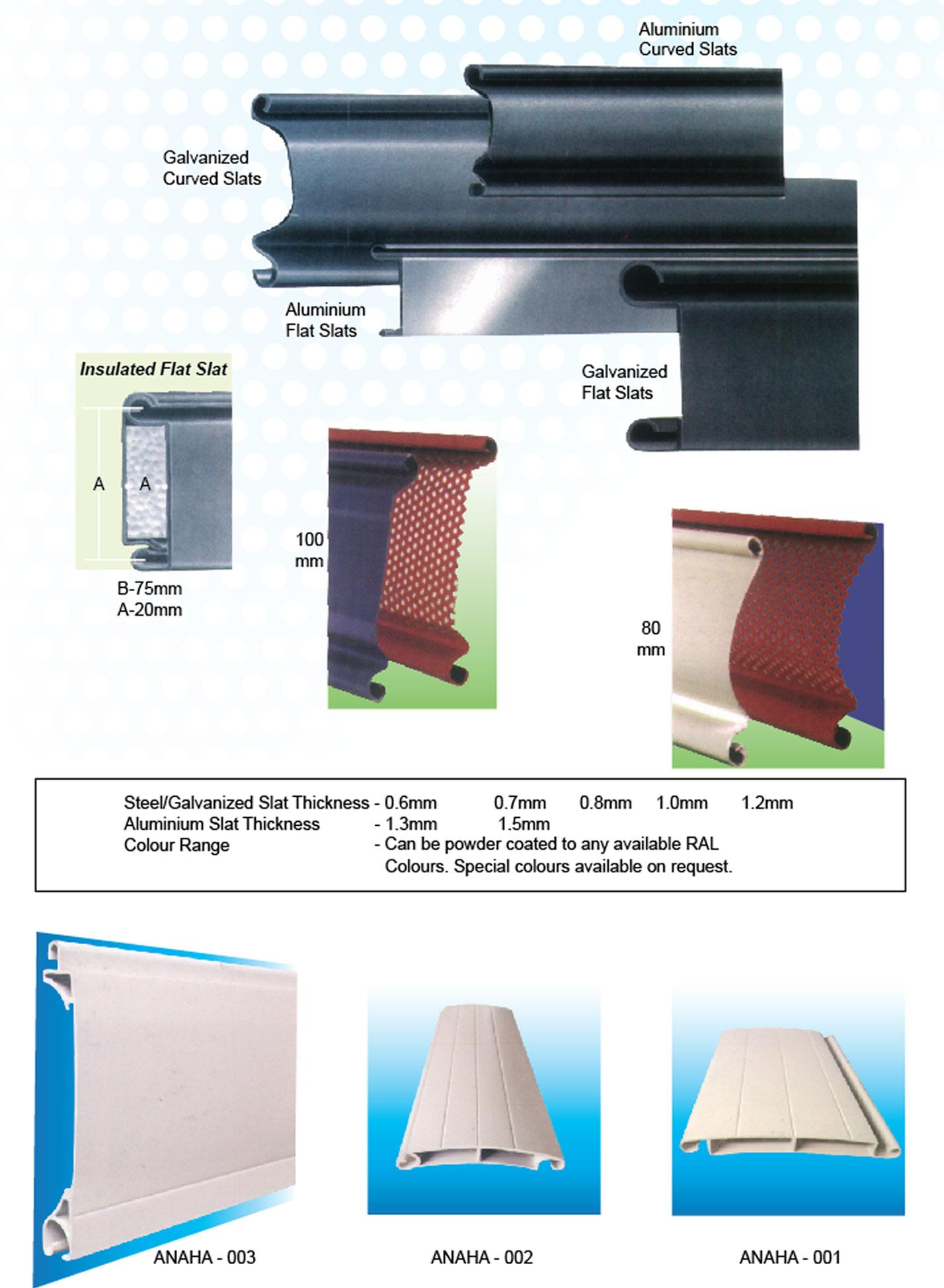 Single Skin Aluminium Amp Galvanized Rolling Shutters